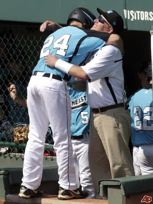WRALL coach Phillip Johnson during the 2011 LLWS — Associated Press