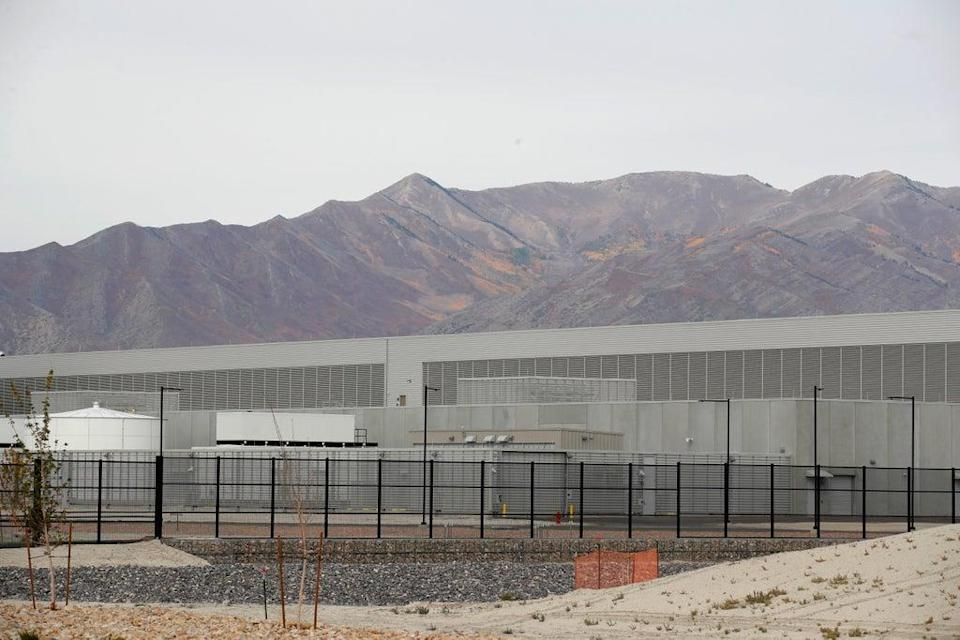 Two phases of the newly completed Facebook data centre sit at the base of mountains in the Rush Valley on 5 October 2021 in Eagle Mountain, Utah. Facebook was shut down yesterday for more than seven hours reportedly due in part to a major disruption in communication between the company's data centres (Getty Images)