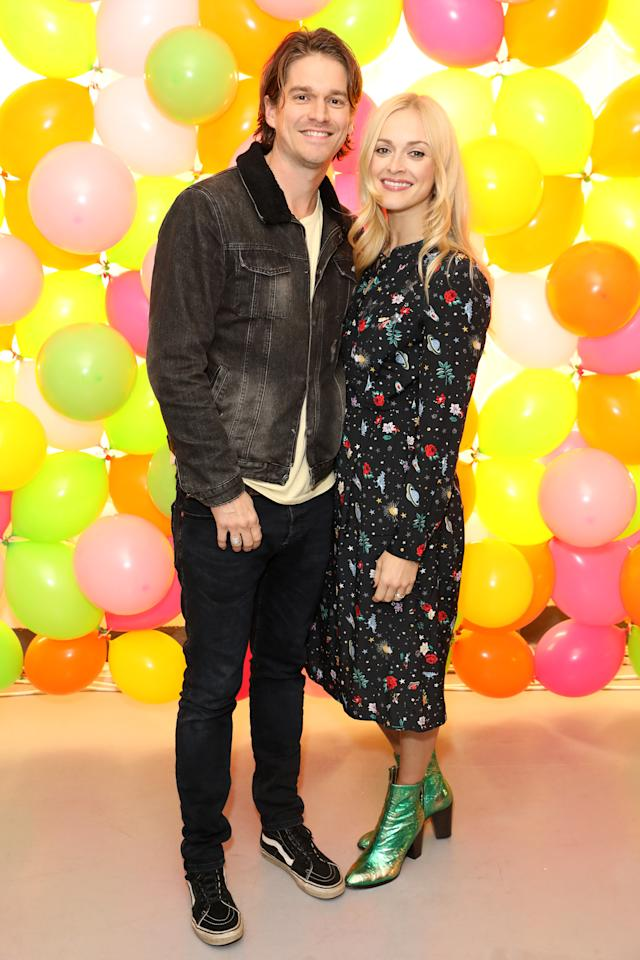 Jesse Wood (L) and Fearne Cotton attend as Fearne Cotton celebrates her new collaboration with Cath Kidston at the Vinyl Factory on October 25, 2018 in London, England. (Photo by Darren Gerrish/WireImage)