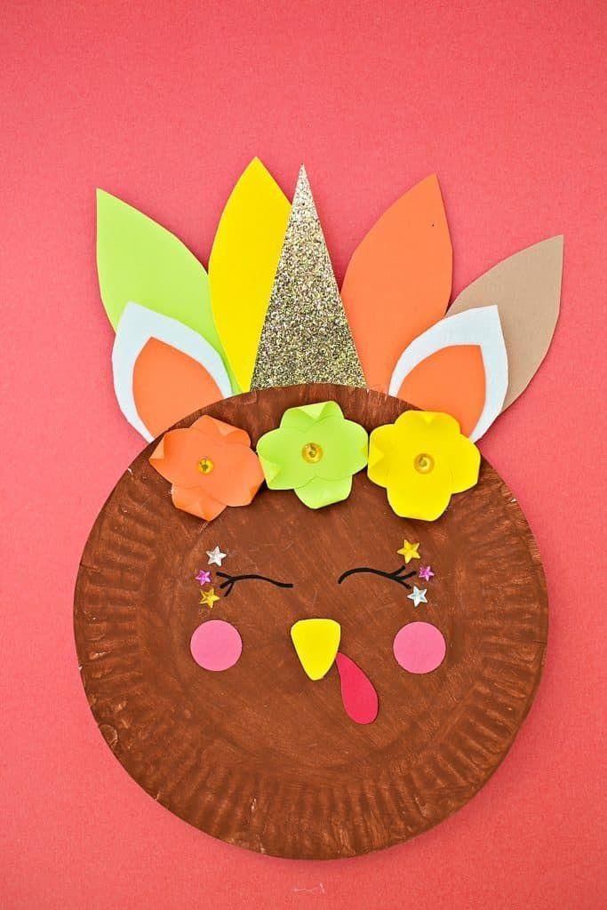 """<p>Bet you've never seen a Thanksgiving craft as original as this one before! Think outside the box with this """"unicorn turkey"""" design—and encourage your kids to think creatively too.</p><p><strong>Get the tutorial at <a href=""""https://www.hellowonderful.co/post/unicorn-turkey-craft/"""" rel=""""nofollow noopener"""" target=""""_blank"""" data-ylk=""""slk:Hello, Wonderful"""" class=""""link rapid-noclick-resp"""">Hello, Wonderful</a>. </strong></p><p><a class=""""link rapid-noclick-resp"""" href=""""https://www.amazon.com/Pacon-PAC6555-Lightweight-Construction-Assorted/dp/B0013CDJTS?tag=syn-yahoo-20&ascsubtag=%5Bartid%7C10050.g.28638625%5Bsrc%7Cyahoo-us"""" rel=""""nofollow noopener"""" target=""""_blank"""" data-ylk=""""slk:SHOP CONSTRUCTION PAPER"""">SHOP CONSTRUCTION PAPER</a></p>"""
