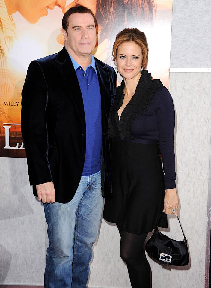 """""""It's Twins"""" for John Travolta and Kelly Preston, declares <i>Star</i> magazine. The weekly notes, """"They were ecstatic when they thought they were having just one baby. Now that there will be two they can barely contain their happiness!"""" But that's not the biggest surprise. Click onto <a href=""""http://www.gossipcop.com/john-travolta-kelly-preston-pregnant-expecting-twins-twin-boys/"""" target=""""new"""">Gossip Cop</a> for a real shocker from a true Travolta confidante. Steve Granitz/<a href=""""http://www.wireimage.com"""" target=""""new"""">WireImage.com</a> - March 25, 2010"""