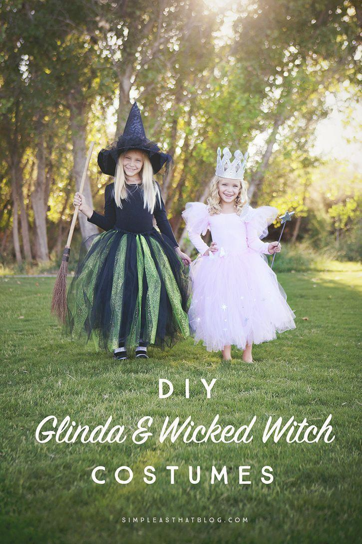 """<p>The good and bad witch sister duo from this beloved film makes for the perfect Halloween inspiration for your own little girls. </p><p><strong>Get the tutorial at <a href=""""https://simpleasthatblog.com/diy-glinda-and-wicked-witch-of-the-west-halloween-costumes/"""" rel=""""nofollow noopener"""" target=""""_blank"""" data-ylk=""""slk:Simple As That"""" class=""""link rapid-noclick-resp"""">Simple As That</a>. </strong></p><p><strong><a class=""""link rapid-noclick-resp"""" href=""""https://www.amazon.com/DANSHOW-Sleeve-Leotard-Toddler-Gymnastics/dp/B071YM5FLV/?tag=syn-yahoo-20&ascsubtag=%5Bartid%7C10050.g.21530121%5Bsrc%7Cyahoo-us"""" rel=""""nofollow noopener"""" target=""""_blank"""" data-ylk=""""slk:SHOP BLACK LEOTARD"""">SHOP BLACK LEOTARD</a><br></strong></p>"""