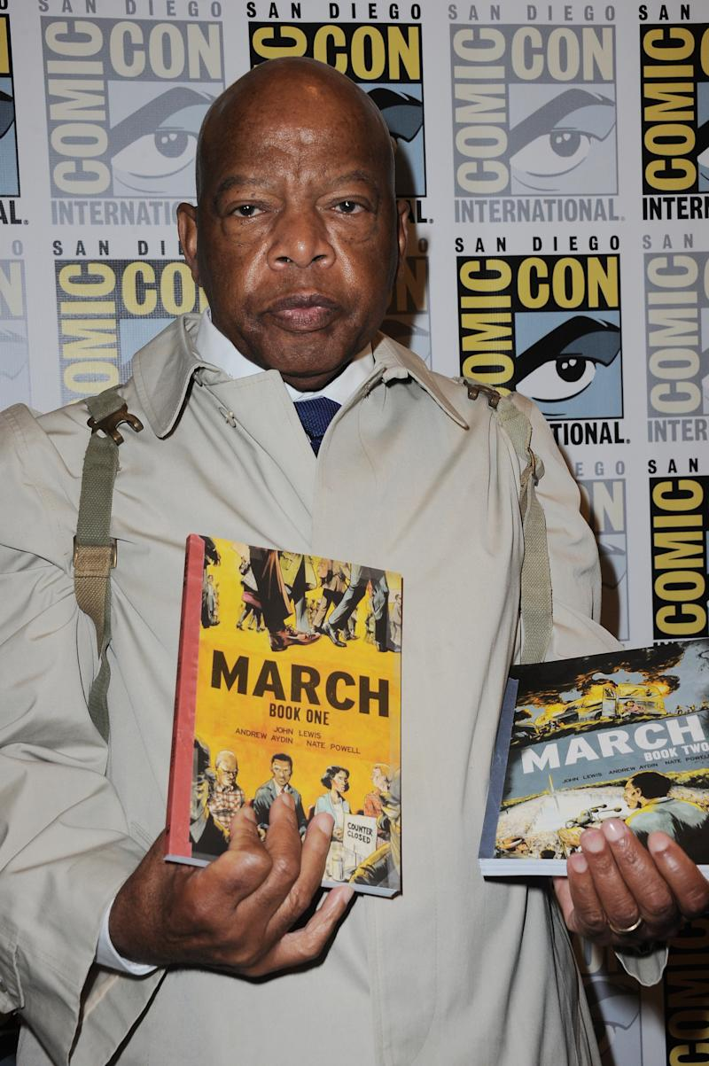 SAN DIEGO, CA - JULY 11: Rep. John Lewis attends the Warner Bros. presentation during Comic-Con International 2015 at the San Diego Convention Center on July 11, 2015 in San Diego, California. (Photo by Albert L. Ortega/Getty Images)