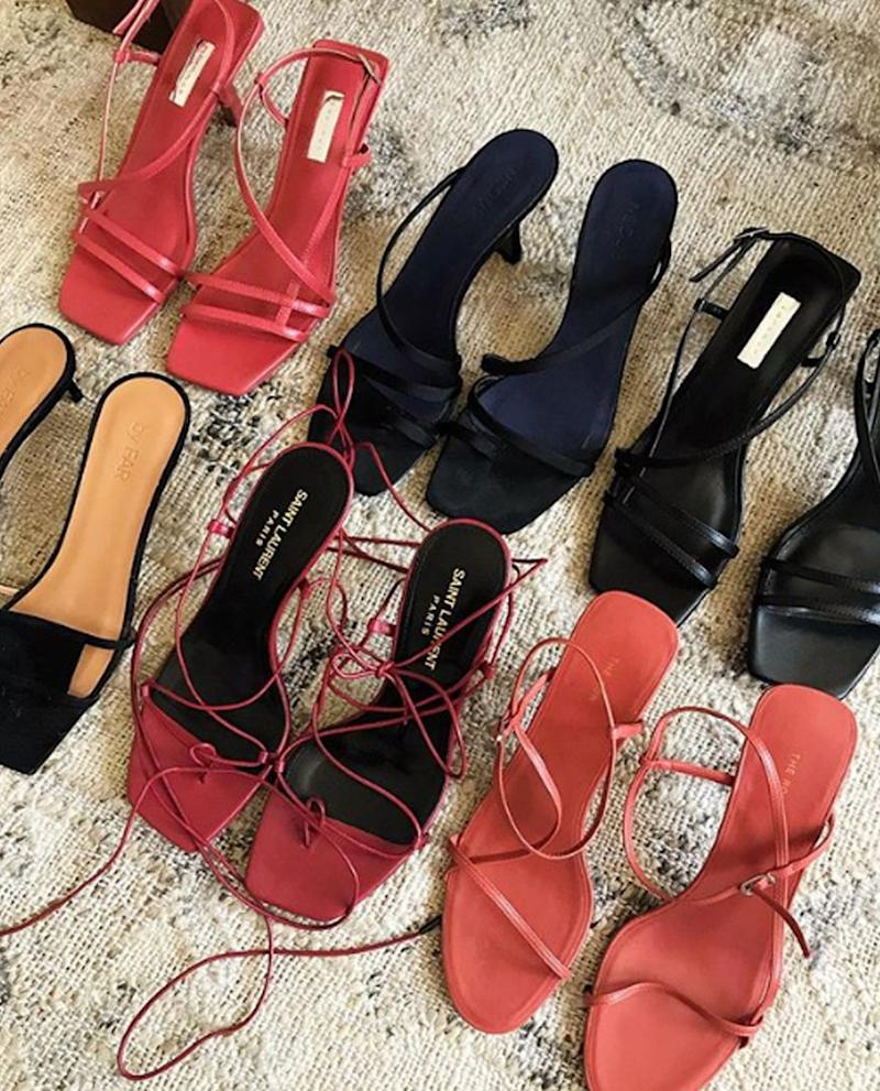 83392011 Whether you call them floss heels, naked heels, strappy heels, this is  arguably the leading sandal trend of the year. The Row started the return  of the ...