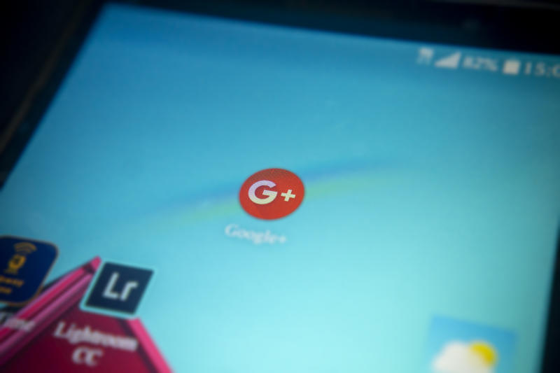The Google+ icon on the home screen of an Android phone on Monday, October 8, 2018. Google announced that it was shutting down Google+ after it finally disclosed a potential data breach which may have affected 500,000 accounts. Google discovered the data in March 2018 but chose not to disclose it for fear of incurring oversight and regulations. (ÂPhoto by Richard B. Levine)