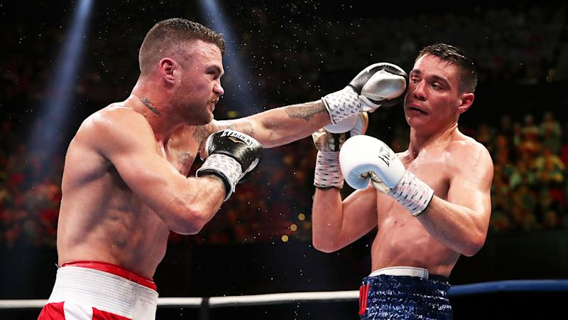 Dwight Ritchie (L) seen here fighting Aussie champion Tim Tszyu.