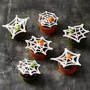 """<p>Watch out for spiders! M&M spiders on double chocolate cupcakes, that is.</p><p><em><a href=""""https://www.goodhousekeeping.com/food-recipes/party-ideas/a28593454/spiderweb-cupcakes-recipe/"""" rel=""""nofollow noopener"""" target=""""_blank"""" data-ylk=""""slk:Get the recipe for Spiderweb Cupcakes »"""" class=""""link rapid-noclick-resp"""">Get the recipe for Spiderweb Cupcakes »</a></em></p>"""