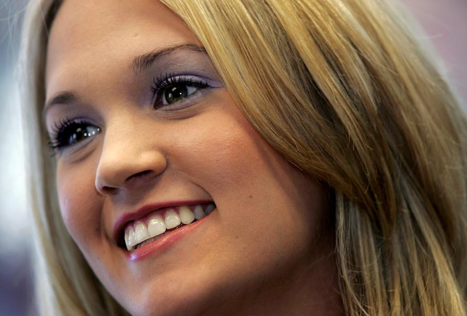 American Idol winner Carrie Underwood meets with country music people at Creative Artist Agency in Nashville June 8, 2005.