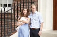 <p>Kate gives birth to the couple's son, George – formally known as Prince George.<br><i>[Photo: PA]</i> </p>