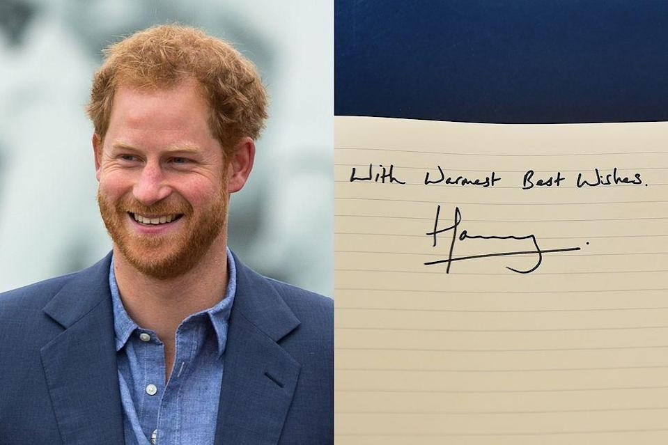 <p>Harry keeps it simple, letting the last for letters of his name flow in a line.</p>