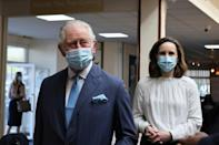 Prince Charles visited a Covid vaccination centre at a northwest London church on Tuesday