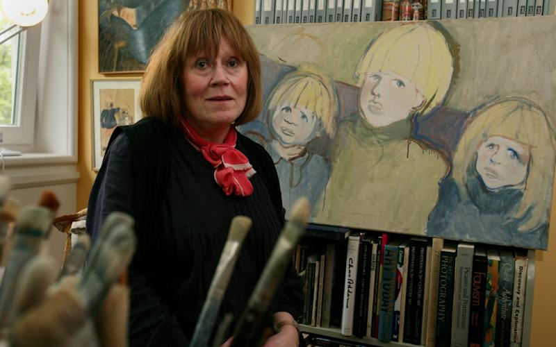 Charlotte Johnson-Wahl, artist, at her home and studio in Notting Hill, west London - Credit: Julian Simmonds