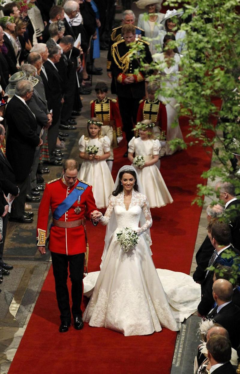 The Duke of Cambridge and Duchess of Cambridge on their wedding day (Getty Images)