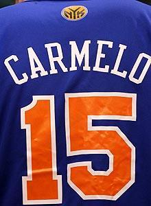 The Knicks shouldn't get too hopeful of seeing Carmelo Anthony's name and No. 15 on one of their jerseys this season