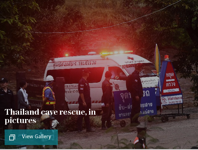 Thailand cave rescue, in pictures