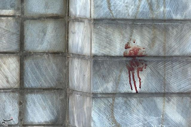 <p>Blood is seen at the scene of an attack on the Iranian parliament in central Tehran, Iran, June 7, 2017. (Photo: Tasnim News Agency/Handout via Reuters) </p>