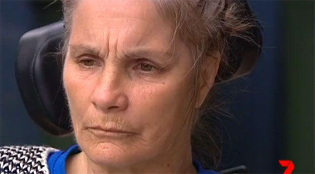 Ms Samios said she couldn't do anything until her carer came the next morning. Image: 7 News