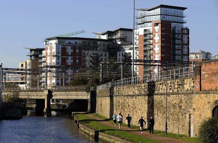 Blocks of flats in Leeds, England. Photo: PA