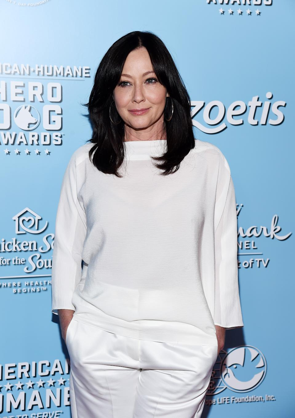 BEVERLY HILLS, CALIFORNIA - OCTOBER 05: Shannen Doherty arrives at the 9th Annual American Humane Hero Dog Awards at The Beverly Hilton Hotel on October 05, 2019 in Beverly Hills, California. (Photo by Amanda Edwards/WireImage)