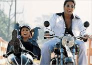 Bachchan's first release of 2005 was the crime comedy Bunty Aur Babli. The film was as the second highest-grossing Bollywood film of 2005, and earned him a nomination for the Filmfare Award for Best Actor. This film was also his first collaboration with his dad, Amitabh Bachchan.