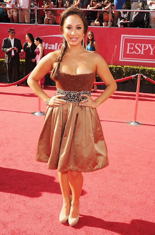 "Cheryl Burke, pro dancer for ""Dancing with the Stars,"" arrives at the 2012 ESPY Awards."