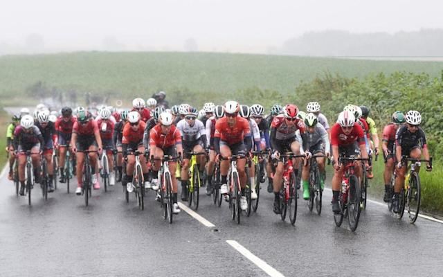 Standing water prevented the race from continuing - @womenstourscott
