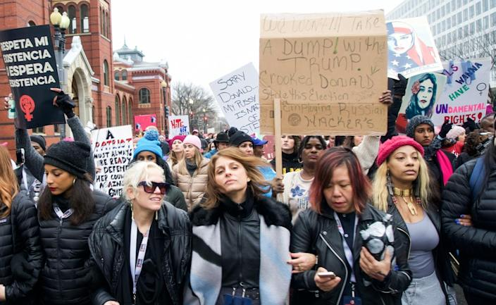 Vanessa Wruble (center), co-founder of the Women's March on Washington and founder of March On at the Women's March on Jan. 17, 2017. (Photo: Courtesy of Vanessa Wruble)