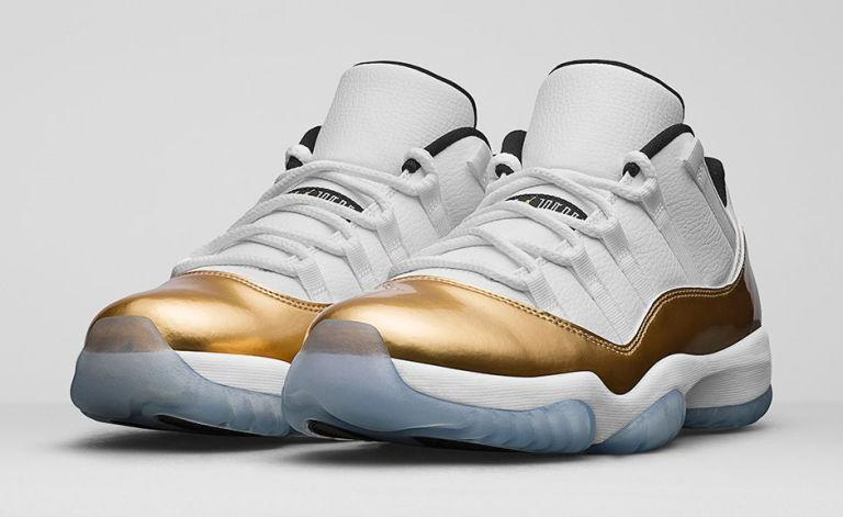 "<p>The Jordan 11 is one of the most beloved Jordans in history, and the only way to punch up the hunger for it is to throw in a dash of gold. Get your mouse-clicking fingers ready; these are going to sell out immediately.<span></span></p><p><span><strong>Release: </strong>8/27<span></span></span></p><p><span><em>$170, <a rel=""nofollow"" href=""https://www.nike.com/snkrs/thread/92a2b7ea21aba35ed73dae3e2fb63a96a98c1084"">nike.com</a></em><span><em></em></span><br></span></p>"