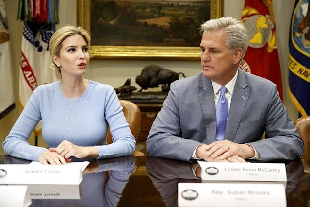 Ivanka Trump speaks during a meeting on human trafficking with congressional leaders. (Photo: Evan Vucci/AP)