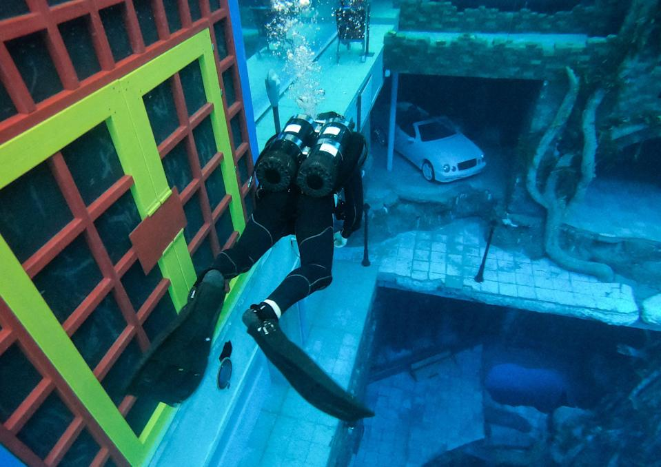 Visitors can practice scuba diving and even try freediving - where divers simply hold their breath (AFP via Getty Images)