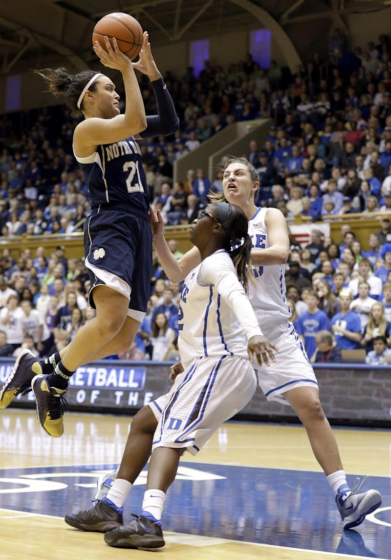 No. 2 Irish women rout No. 3 Duke 88-67