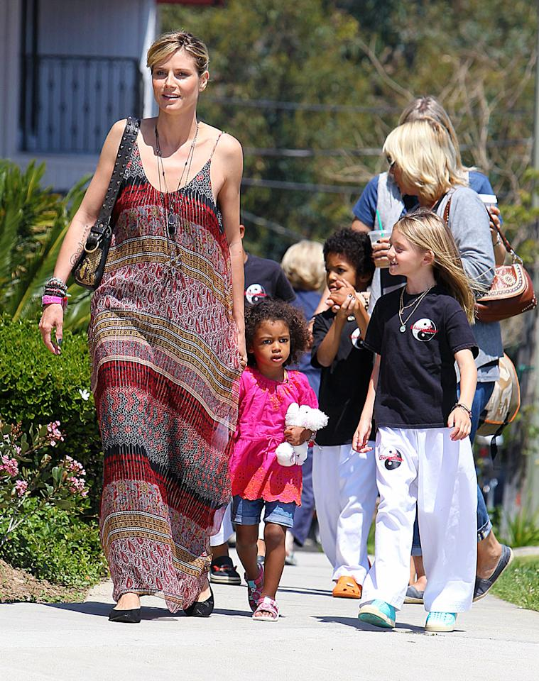 "<p class=""MsoNoSpacing"">This Mother's Day may be unlike any other for Heidi Klum and her four children, daughters Leni, 8, and Lou, 2, and sons Henry, 6, and Johan, 5. The ""Project Runway"" host tells omg! that she plans to take them to a Monster Truck show. ""It should be very easy to get tickets because no one will do that,"" laughs Klum, who split from husband Seal in January. ""Everyone will be brunching away somewhere looking fabulous in their Sunday outfits and we will be at the Monster Trucks.""</p>"