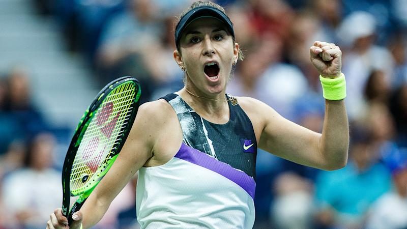 Belinda Bencic, pictured here during her win over Naomi Osaka.