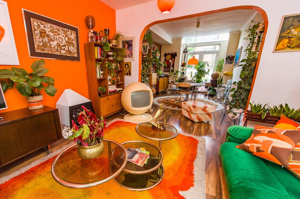 Estelle Bilson's home is a colourful mix of 1970s nostalgia. (SWNS)