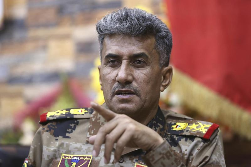 Lt. General Abdul-Wahab al-Saadi pictured in 2016 outside Fallujah, Iraq