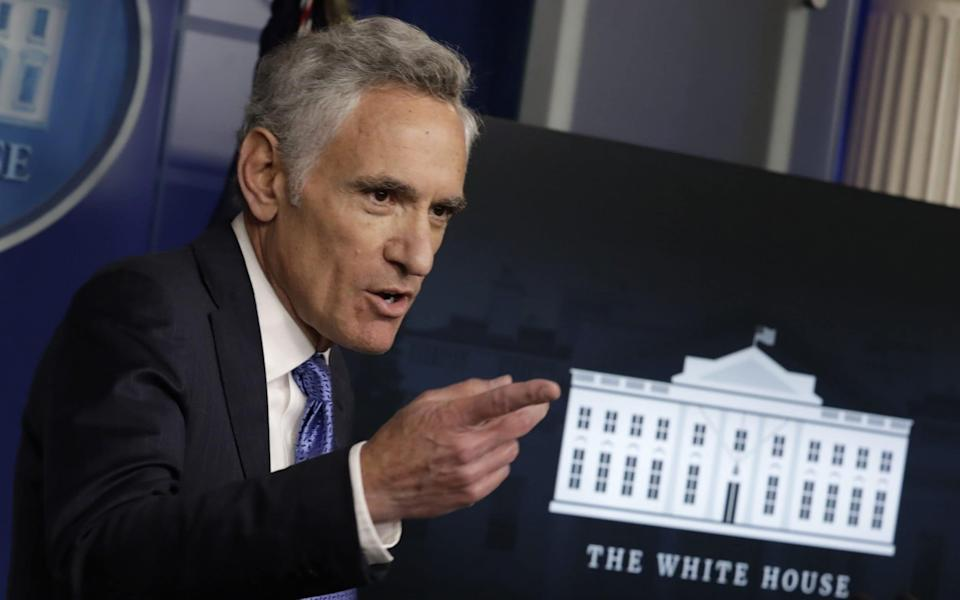 Scott Atlas, White House coronavirus adviser and the former chief of neuroradiology at Stanford University Medical Center and a fellow at Stanford's conservative Hoover Institution, has no expertise in public health or infectious diseases. - Yuri Gripas/Abaca/Bloomberg