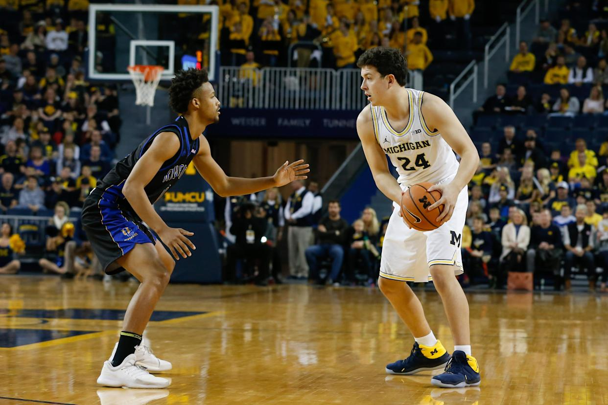 Michigan walk-on C.J. Baird had only played in two games this season prior to Thursday night's Sweet 16 game. (Getty Images)
