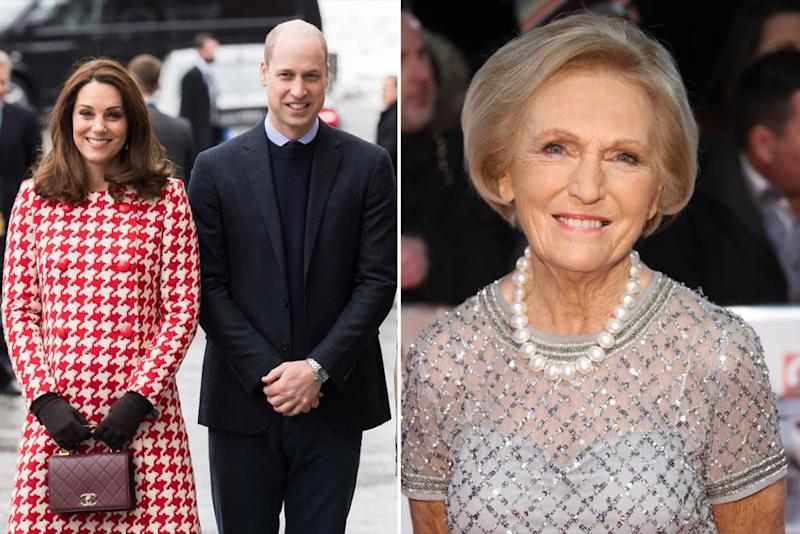 From left: Kate Middleton, Prince William and Mary Berry | Samir Hussein/WireImage; Mike Marsland/WireImage