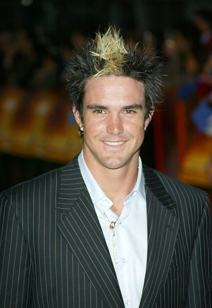 <p>The former English cricketer generally kept a short, well-groomed haircut—so this spiky look with a center blonde stripe he once sported is puzzling, to say the least.</p>