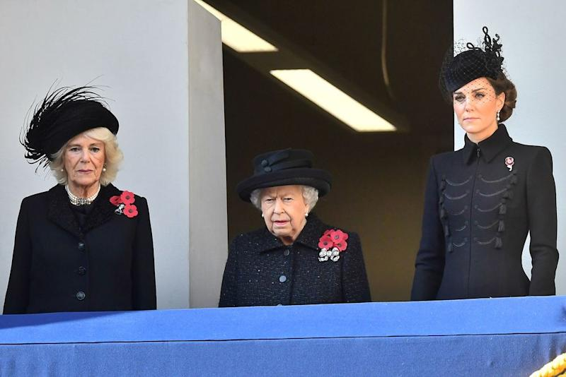 Camilla, Duchess of Cornwall, Queen Elizabeth and Kate Middleton | Samir Hussein/WireImage