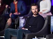 "<p>Perhaps the hardest tattoo to spot is the one on the back of Evans' right ankle, which reads ""SCS,"" <a href=""http://usatoday30.usatoday.com/life/people/2004-09-09-chris-evans_x.htm"" class=""link rapid-noclick-resp"" rel=""nofollow noopener"" target=""_blank"" data-ylk=""slk:for his three siblings: Scott, Carly, and Shanna"">for his three siblings: Scott, Carly, and Shanna</a>, according to his 2004 <strong>USA Today</strong> interview. </p>"