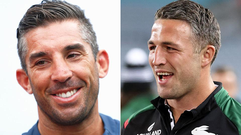 Braith Anasta and Sam Burgess are seen in side-by-side pictures here.