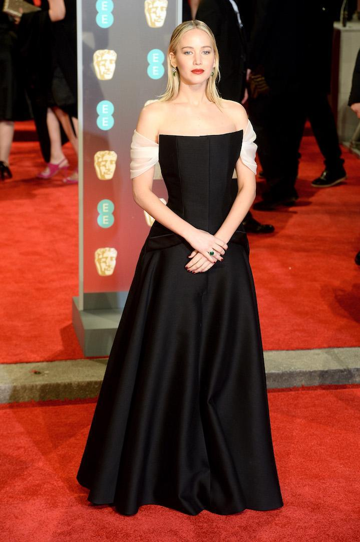 <p>The actress wore an haute couture Dior gown finished with Charlotte Olympia shoes and a Roger Vivier bag. <em>[Photo: Getty]</em> </p>