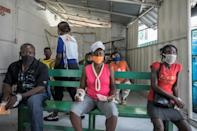Patients wait for treatment at the MSF emergency clinic in Martissant