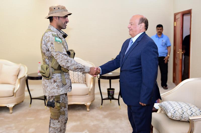 Colonel Abdullah al-Sahyan (left), who was awarded with a medal of courage by Yemen's President Abedrabbo Mansour, died in action in the country's southwest