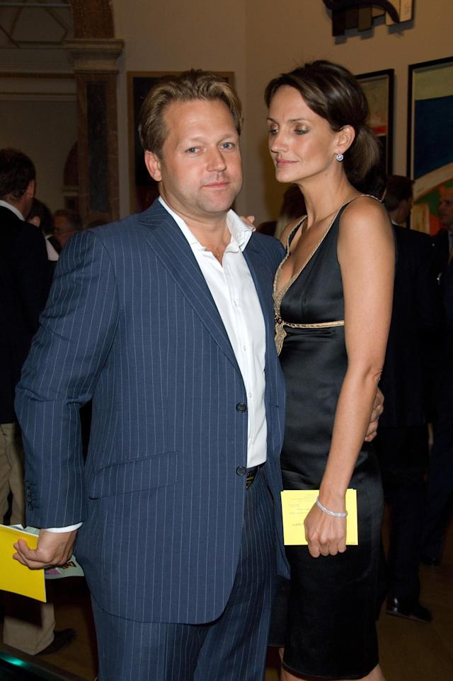 David Ross, pictured here with Saffron Aldridge, has denied paying for the villa used by Boris Johnson for his new year break to the Caribbean (WireImage)