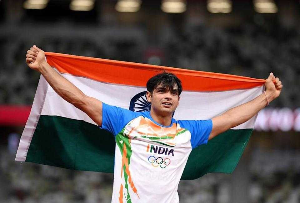 File: Neeraj Chopra became a national sensation after he won a gold medal for India in the men's javelin throw in the Tokyo 2020 Olympic Games (Getty Images)