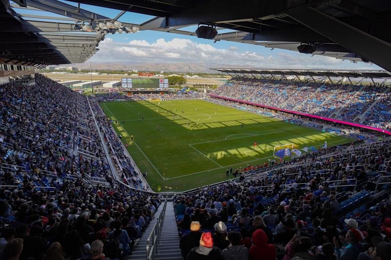SAN JOSE, CA - SEPTEMBER 29: A general view during a Major League Soccer (MLS) match between the San Jose Earthquakes and the Seattle Sounders on September 29, 2019 at Avaya Stadium in San Jose, California. (Photo by John Todd/ISI Photos/Getty Images).