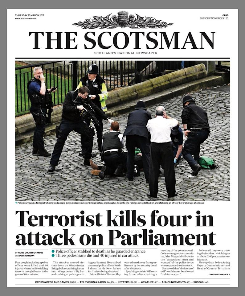 Deputy Killed 4 Others Wounded In Ambush Attack: Westminster Terror Attack: Newspaper Headlines From Around