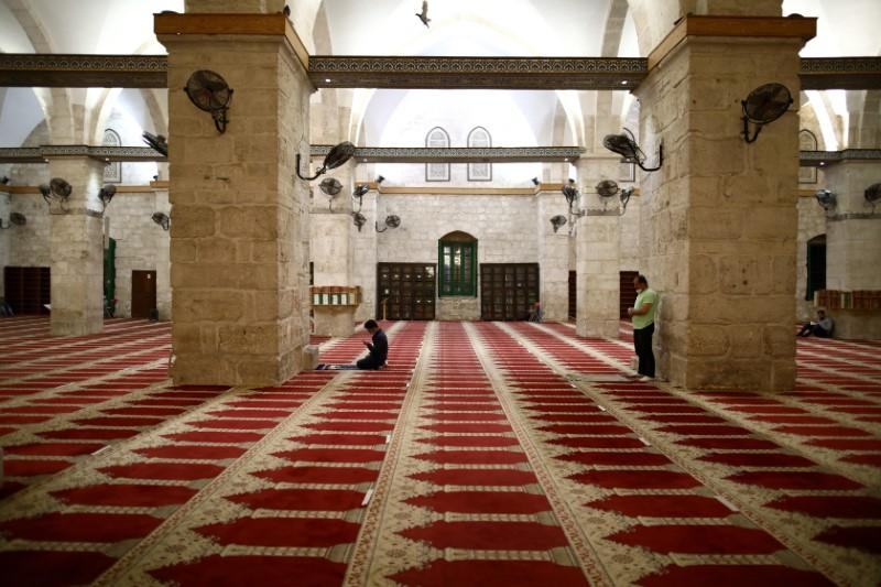 Al-Aqsa mosque reopened to worshippers after a two-and-a-half month coronavirus closure, in Jerusalem's Old City